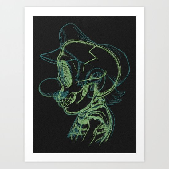 X-Ray of the Brick Breaker. Art Print