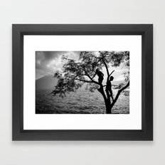 Over the Lake Framed Art Print