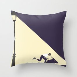 KICK PUSH Throw Pillow