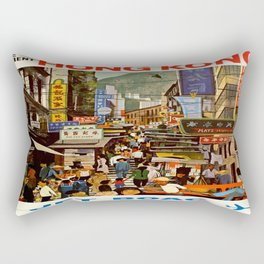 Vintage poster - Hong Kong Rectangular Pillow