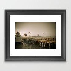 View of Alcatraz - The Rock Framed Art Print
