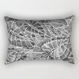 Schismatoglottis Calyptrata – Black Palette Rectangular Pillow