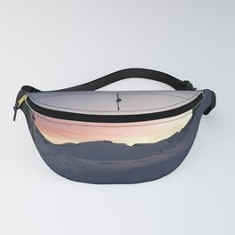 New day about to start at mountains Fanny Pack