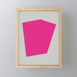Abstract #8 Pink Grey Framed Mini Art Print