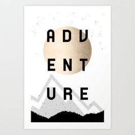 Adventure Golden Sunrise Art Print