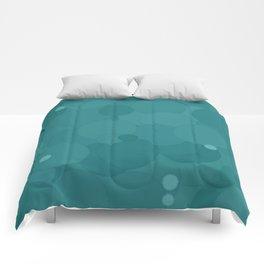 Teal Bubble Dot Color Accent Comforters