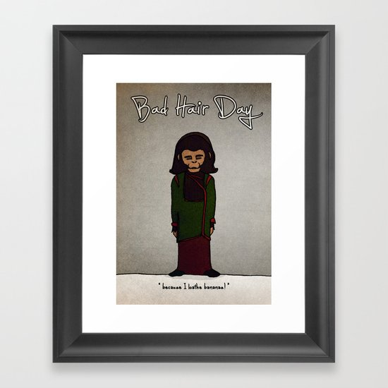 bad hair day no:1 / Planet of the Apes Framed Art Print