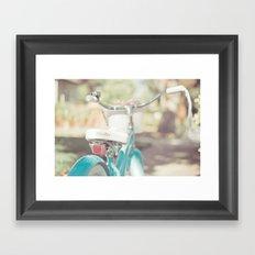 Little Bicycle Framed Art Print