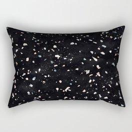 Terrazzo Memphis black galaxy Rectangular Pillow