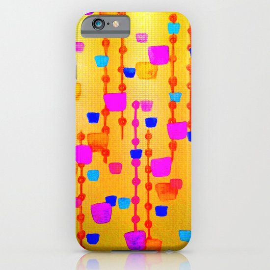 POLKA DOT MATRIX - Bright Bold Cheerful Dotty Geometric Squares Circles Abstract Watercolor Painting iPhone & iPod Case