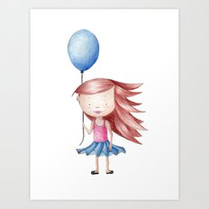 Balloon Love - Stay Grounded Art Print