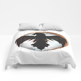 Rose Gold Raven Eclipse Comforters