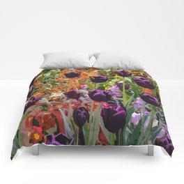 Dancing Purple Tulips Comforters