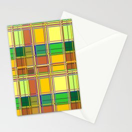 Caribbean Colorful Fabric Madras Tartan Stationery Cards