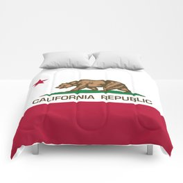 California Republic Flag, High Quality Image Comforters