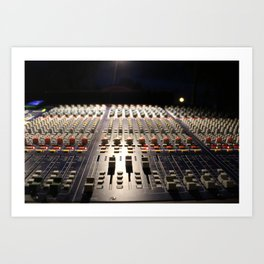 Nighttime Soundboard Photo Art Print