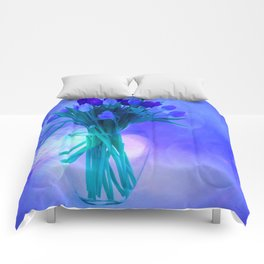 A Blue Bloom for Spring Comforters