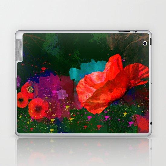 Poppies Summer Laptop & iPad Skin