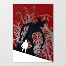 Stranger Things - TV Series | 80's | Cult | TV | Monster | Forest | Eleven | Movie | Poster Canvas Print