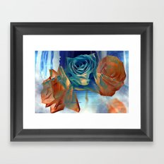 Roses By The Bridge By Annie Zeno Framed Art Print