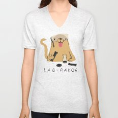 lab-rador Unisex V-Neck