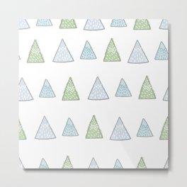 Hand Drawn Triangles Tree  Metal Print