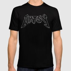 Artsy too Black Mens Fitted Tee LARGE
