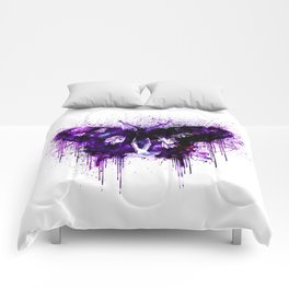 Crazy Butterfly artistic mixed media Comforters