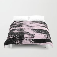Pink Black Abstract texture  Duvet Cover