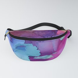 Alcohol Ink Flowers Fanny Pack