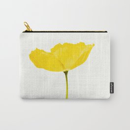 Yellow Poppy White Background #decor #society6 #buyart Carry-All Pouch