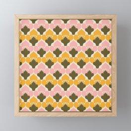 Yellow & Pink Flower Pattern Framed Mini Art Print