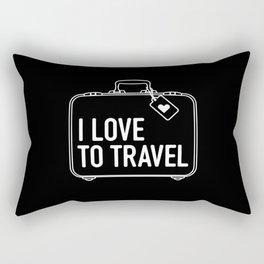 I Love To Travel Rectangular Pillow