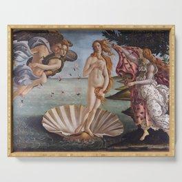 Sandro Botticelli The birth of Venus 1485 Artwork for Prints Posters Tshirts Men Women Kids Serving Tray