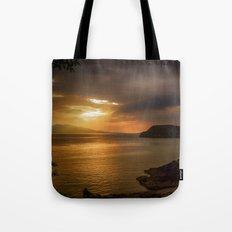 Sunset at Lismore Island Tote Bag