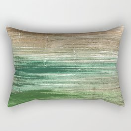 Artichoke abstract watercolor Rectangular Pillow