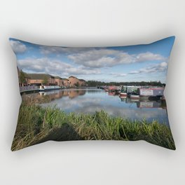 Barton Marina Narrow Boats Rectangular Pillow
