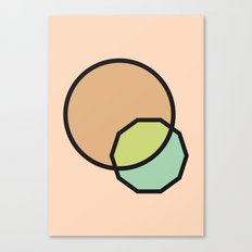 Shapes Illustration Canvas Print