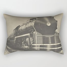 Train vintage Poster Rectangular Pillow