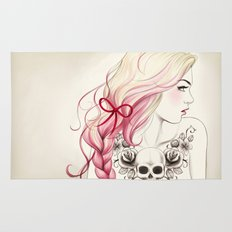 Tattoo Girl Rug