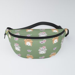 Hamster and Flower Fanny Pack