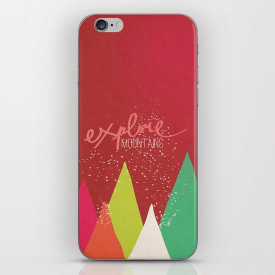 Explore Mountains iPhone & iPod Skin