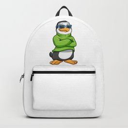 Penguin with Sunglasses and Sweater Backpack