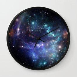Violet green nebula galaxy 180715 Wall Clock