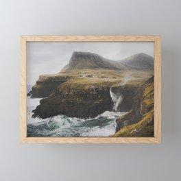 Gásadalur fossur Framed Mini Art Print