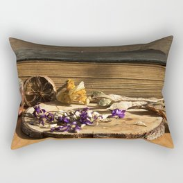 dry flowers and plants Rectangular Pillow