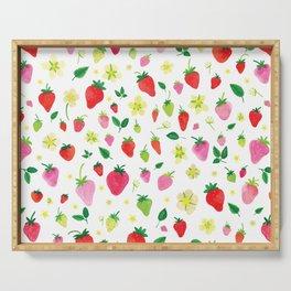 Summer Strawberry Fields Serving Tray