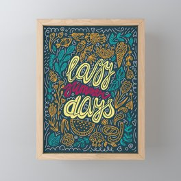 Lazy Summer Days Retro Poster Framed Mini Art Print