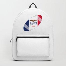 Iowa State USA Football Flag Backpack