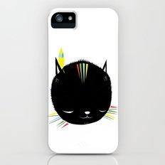 MIGHTY TIGARRR, BLACK KITTEN 묘 Slim Case iPhone (5, 5s)